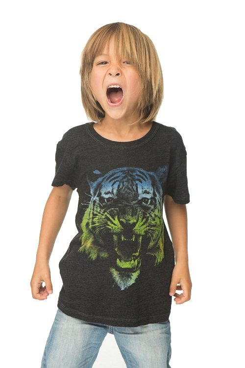 Ombre Tiger Kids Graphic Tee
