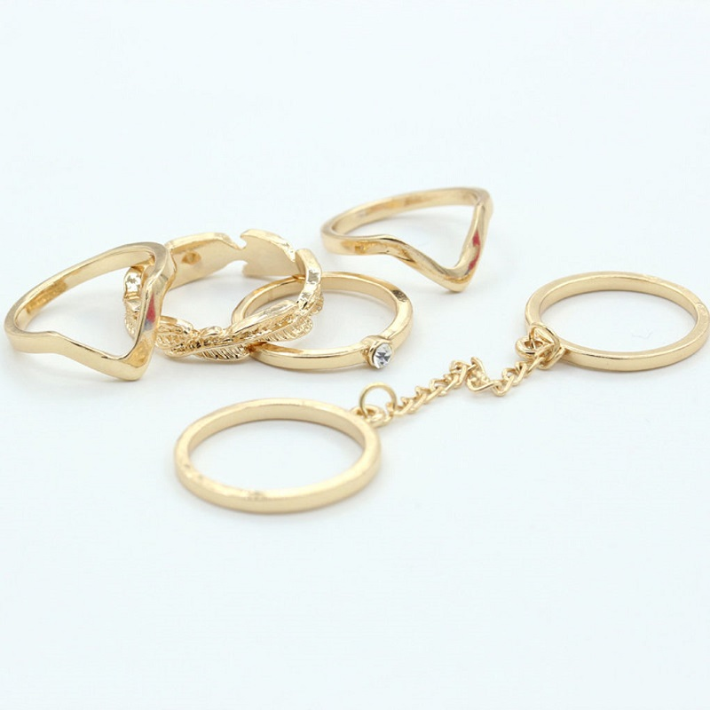 Urban Stacking Bands Midi Ring Set - More Colors