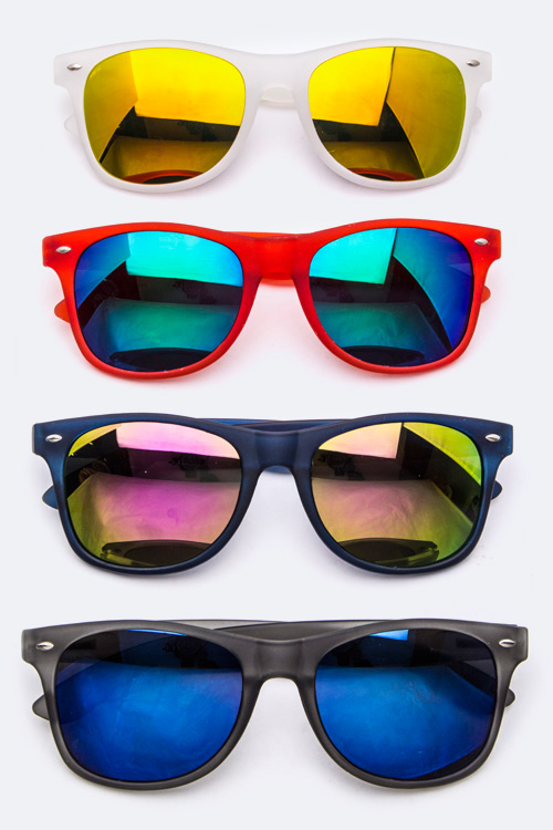 Color Frame Wayfarer Sunglasses - More Colors
