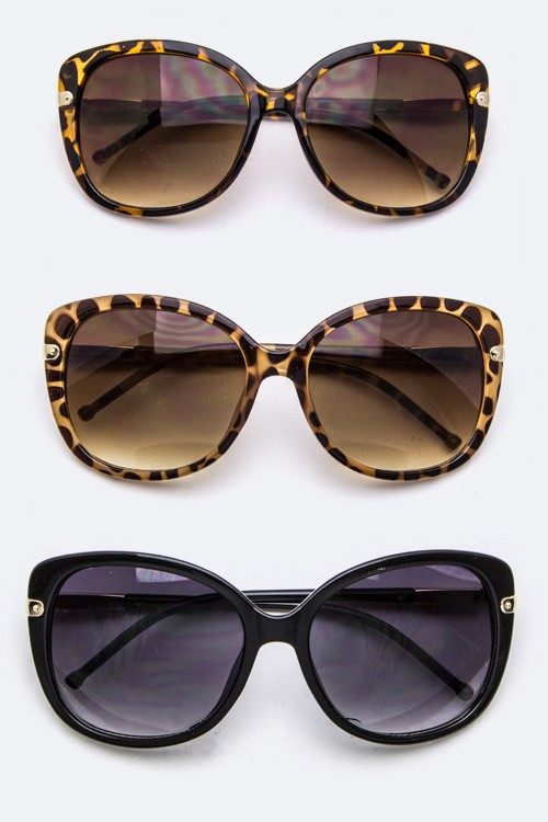 Oversized Fashion Oval Sunglasses - More Colors