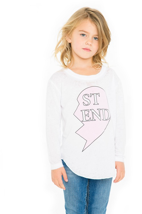Besties #2 Girls Long Sleeve Shirttail Shirt