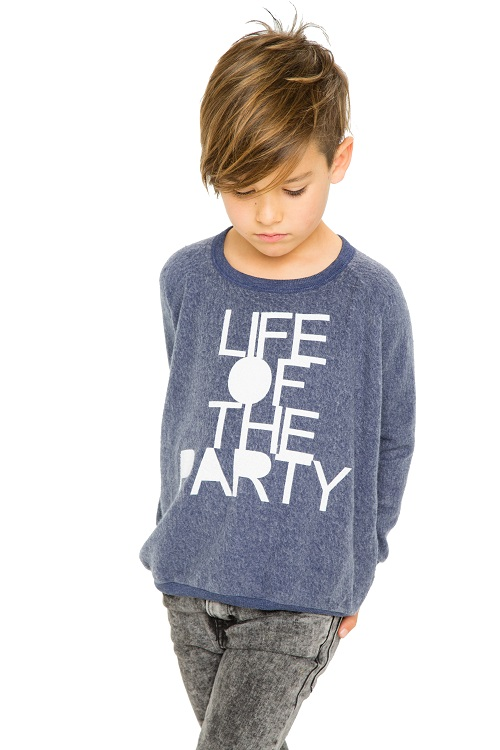 Life of the Party Kids Reverse Fleece Sweatshirt