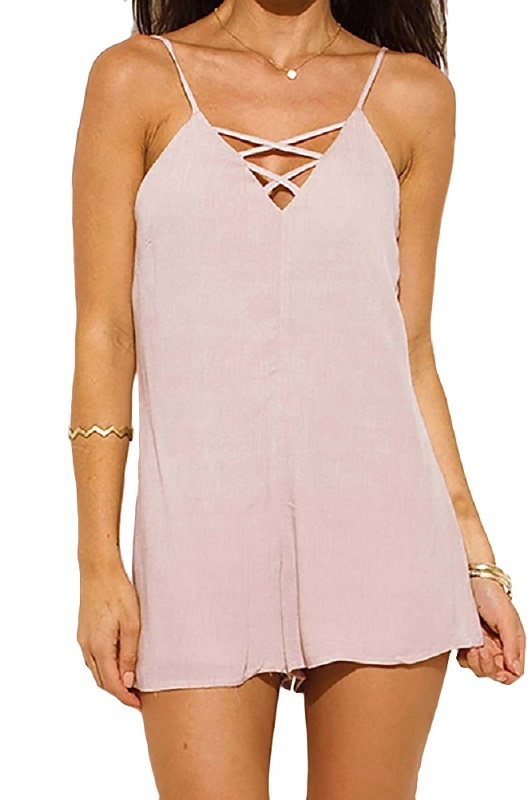 Britt Criss Cross Neck Romper - More Colors