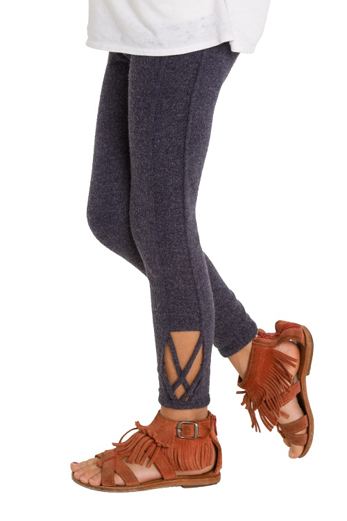 Love Knit Girls Side Detail Legging - More Colors