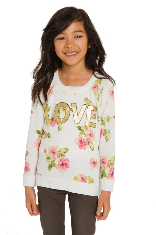 Love Rose Garden Knit Raglan Pullover