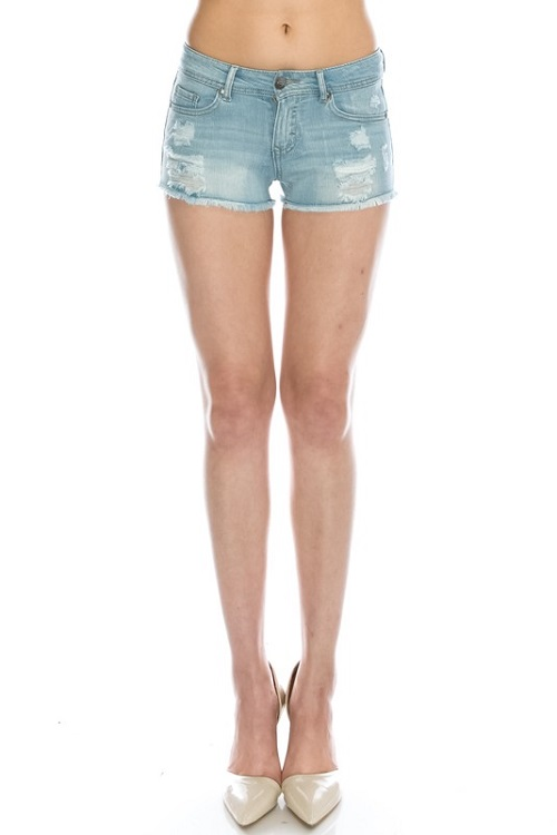 Skye Low Rise Distressed Denim Shorts - More Colors : Ava Adorn ...