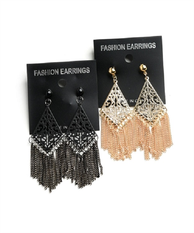 Chain Tassel Drop Earrings - More Colors