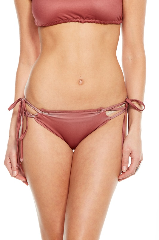 Looped Halter and Strappy Side Tie Bikini