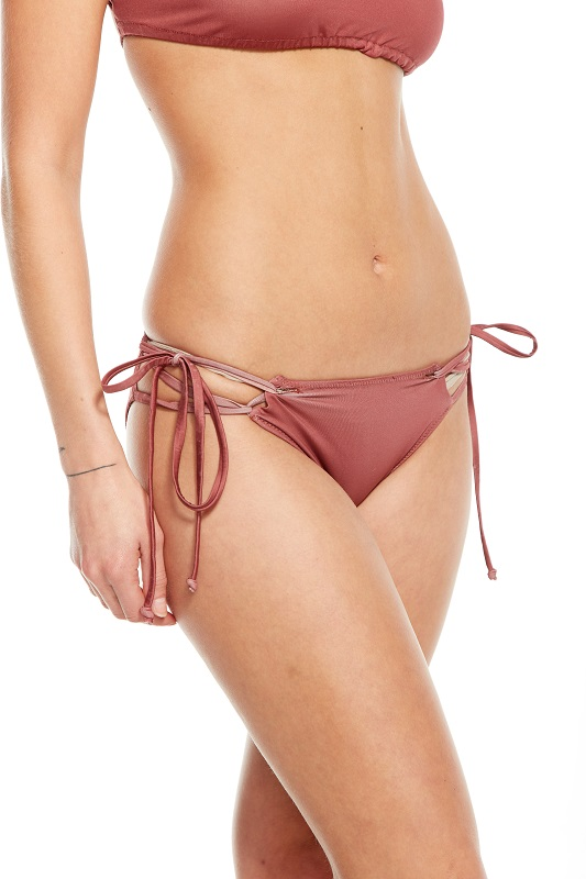 Looped Halter and Strappy Side Tie Bikini - Click Image to Close