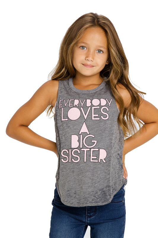 Everybody Loves a Big Sister Girls Muscle Tank