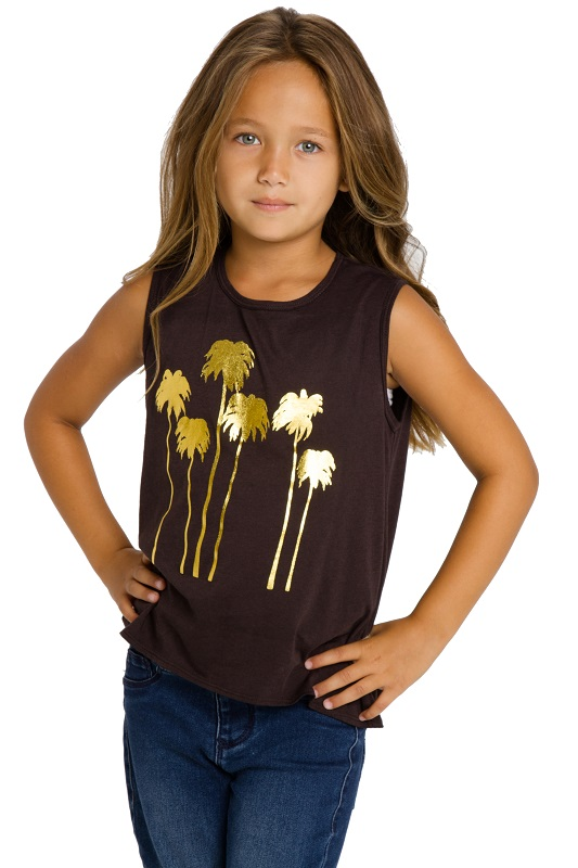 Golden Palms Kids Flouncy Tank