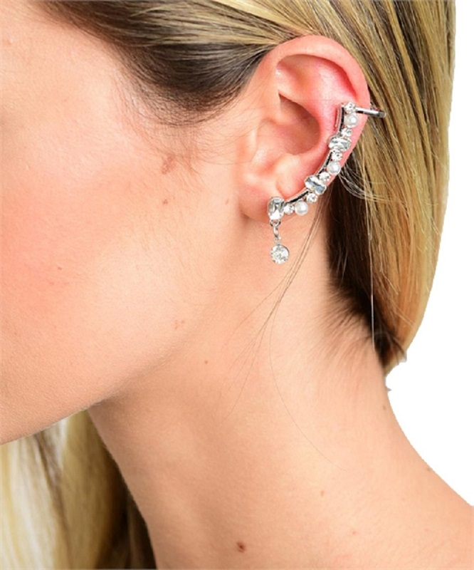 cuff item in earrings pcs clip silver antique jewelry ear dragon x stud wrap left on for doreenbeads from