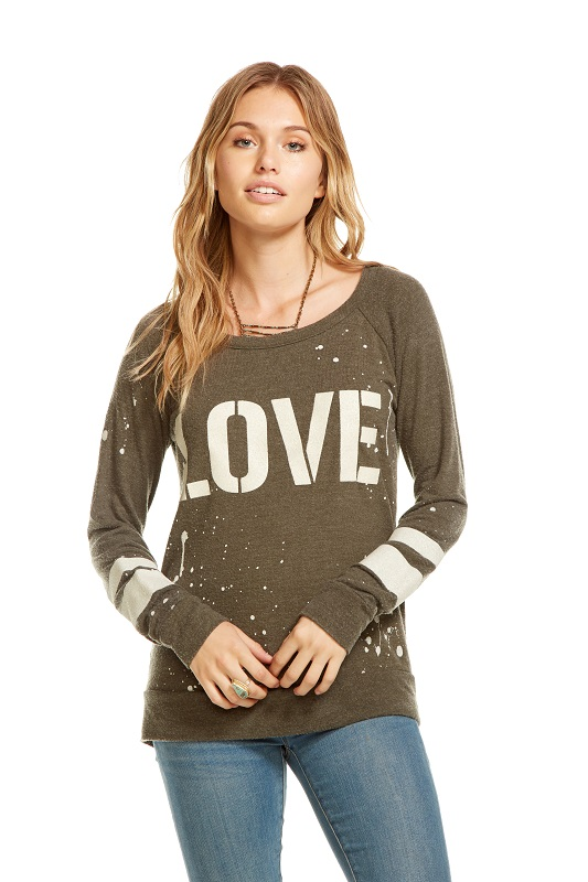 Love Recruit Drape Back Raglan