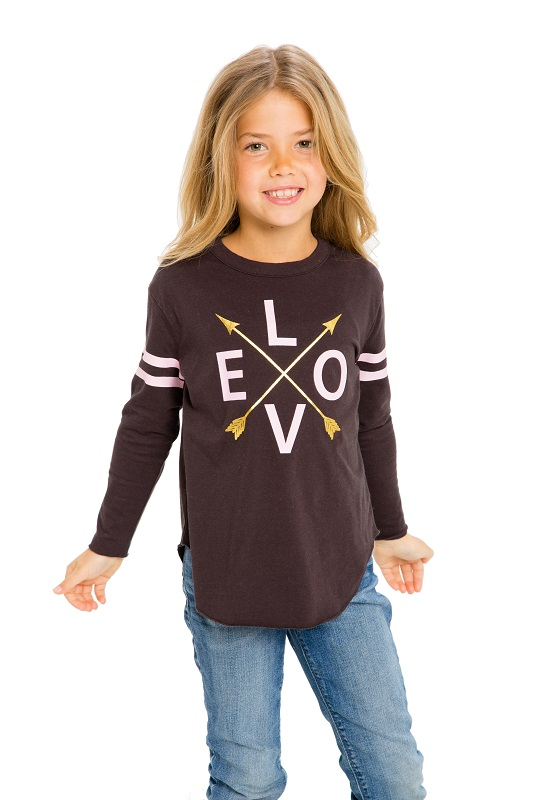 Love Arrows Kids Long Sleeve Shirttail Tee