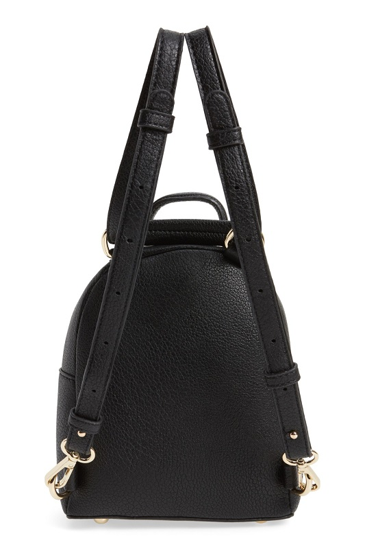 Mini Star Stud Faux Leather Backpack