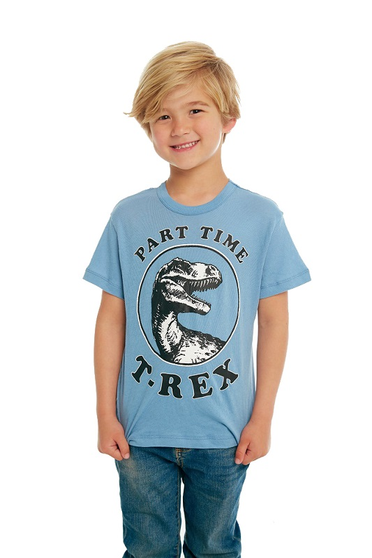 Part Time T-Rex Kids Short Sleeve Tee
