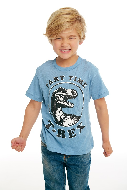 Part Time T-Rex Kids Short Sleeve Tee - Click Image to Close